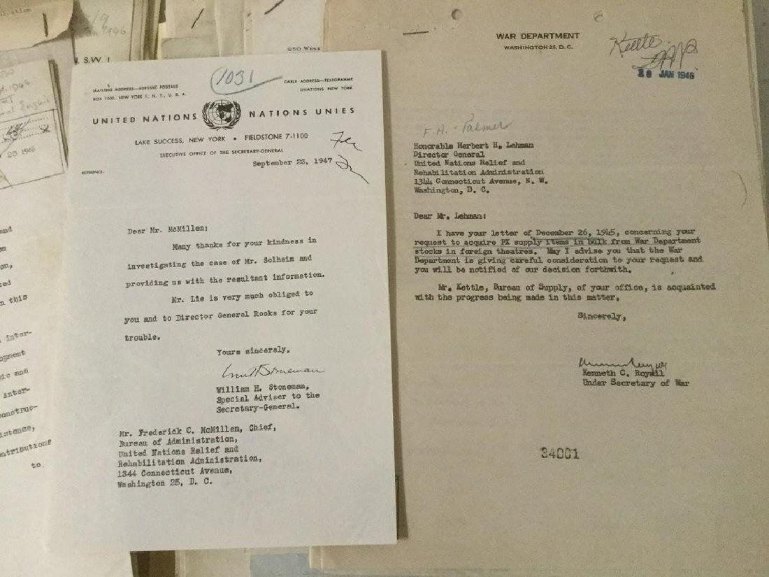 HUGE 1940'S UNITED NATIONS ARCHIVE OF SIGNED - 4