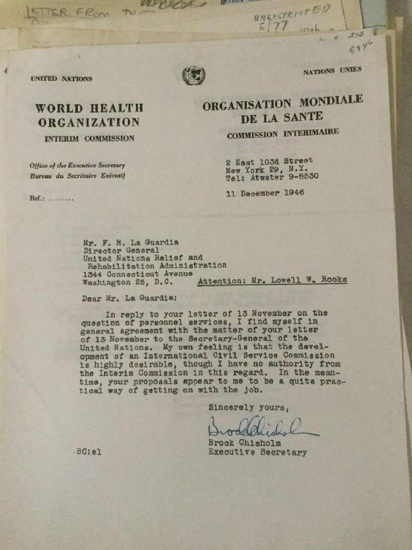 HUGE 1940'S UNITED NATIONS ARCHIVE OF SIGNED - 5