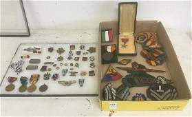 ESTATE COLLECTION OF MILITARY MEDALS AND PATCHES, FROM
