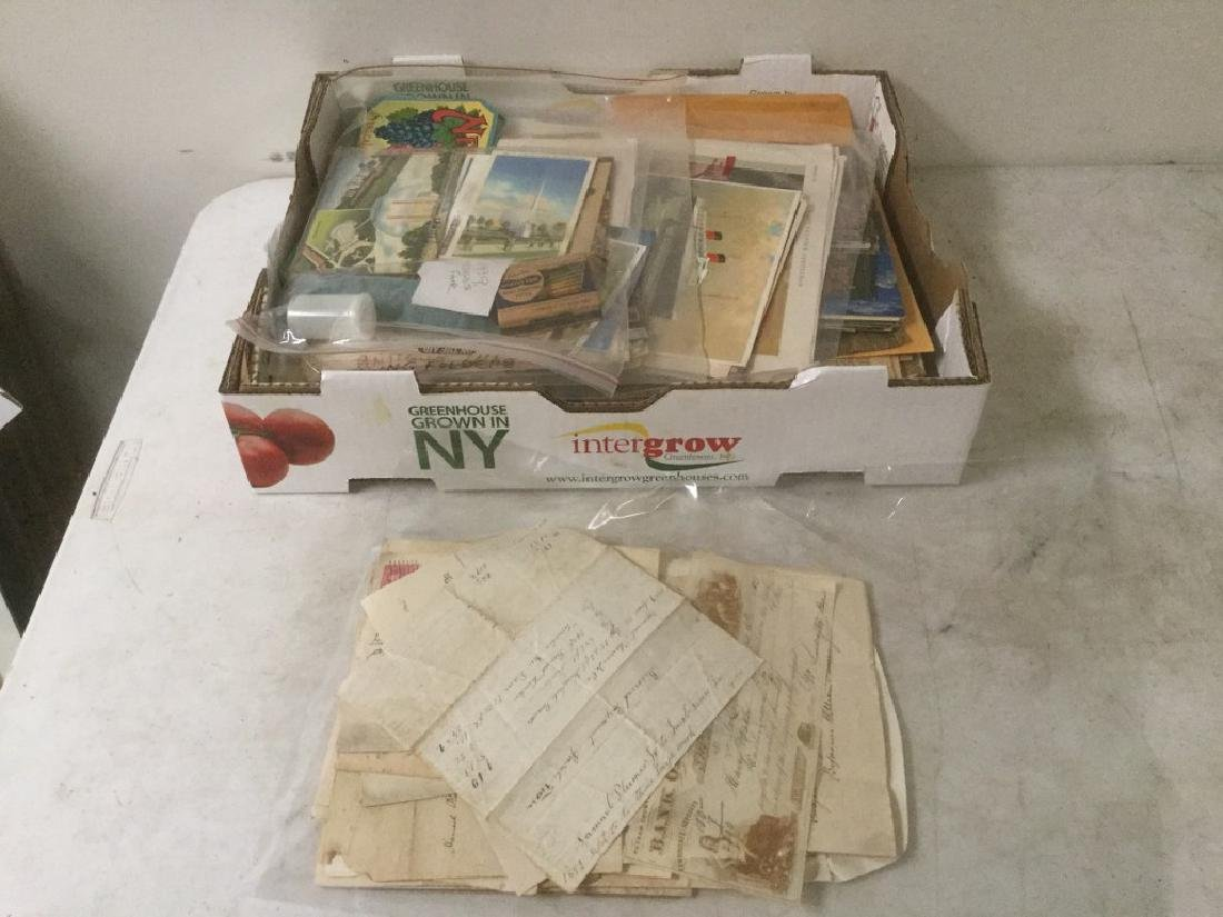 LARGE LOT OF ESTATE EPHEMERA INCLUDING EARLY