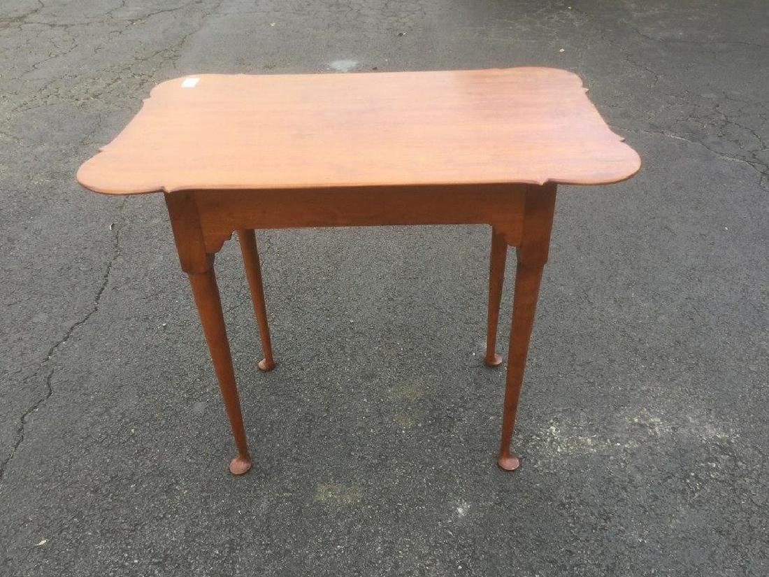 ELDRED WHEELER CUSTOM MADE CHERRY TEA TABLE, STAMPED
