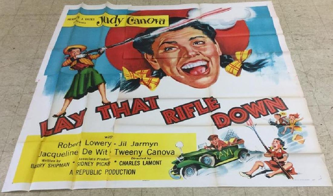 6 SHEET MOVIE POSTER LAY THAT RIFLE DOWN, STARRING JUDY