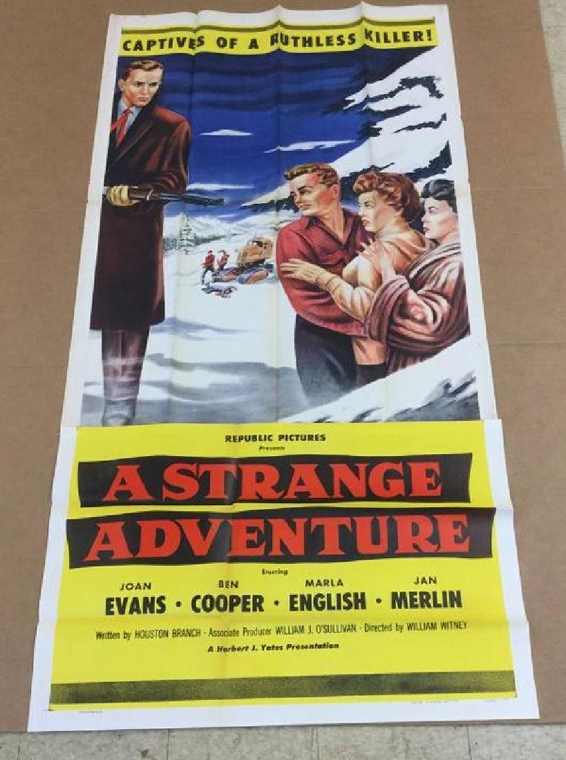 3 SHEET MOVIE POSTER A STRANGE ADVENTURE 1956 IN