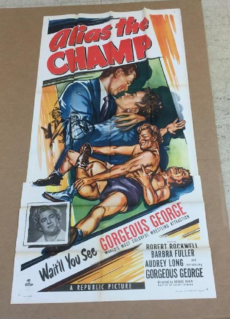 3 SHEET MOVIE POSTER ALIAS THE CHAMP 1949, UNTOUCHED