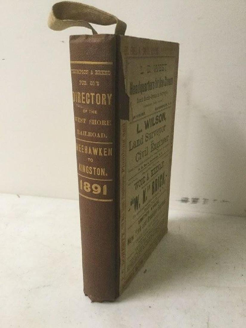 DIRECTORY OF THE ULSTER & DELAWARE RAILROAD 1891,