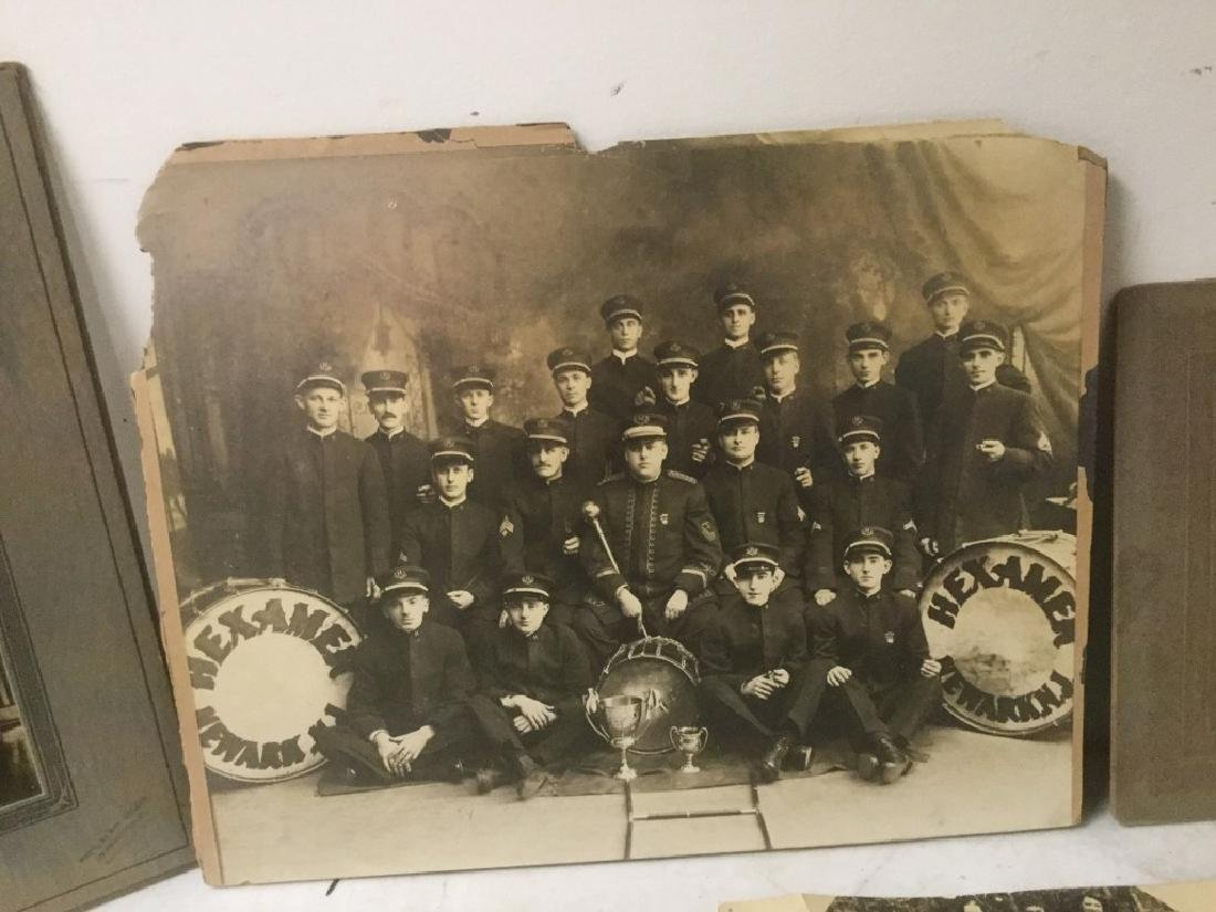 LOT OF EARLY PHOTOGRAPHY WITH LARGE BAND PHOTOS, SNAP - 3