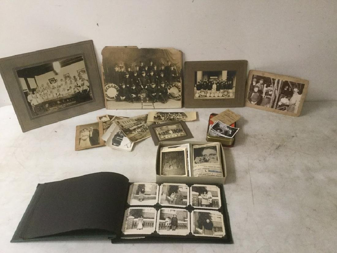 LOT OF EARLY PHOTOGRAPHY WITH LARGE BAND PHOTOS, SNAP - 7