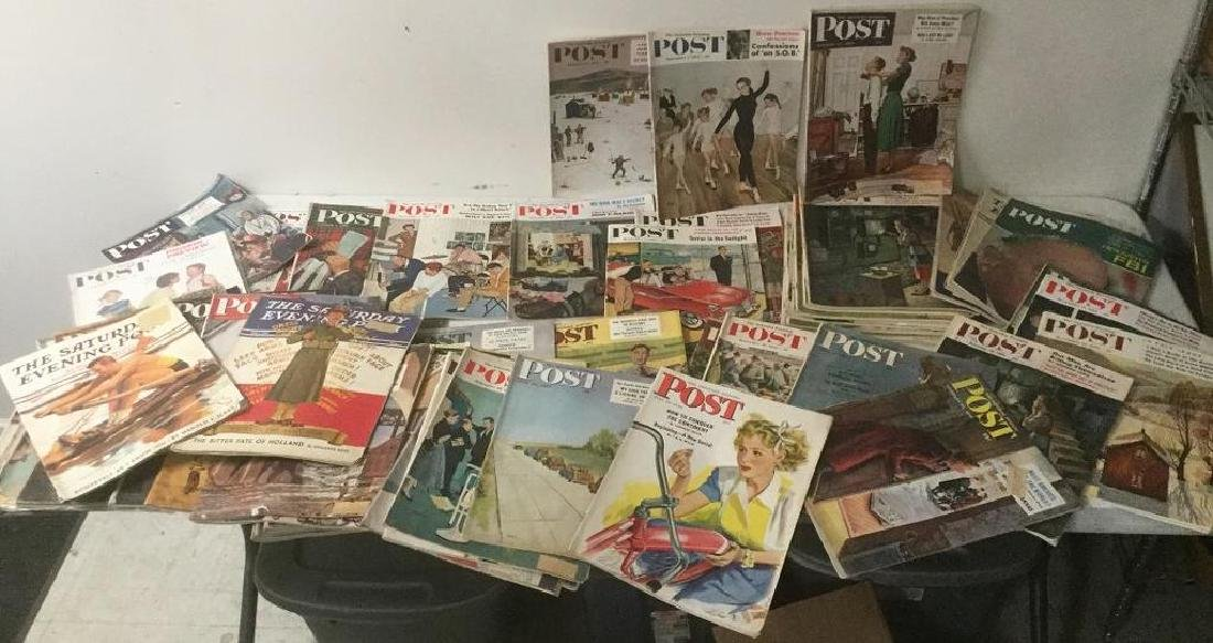 (68) OLD  SATURDAY EVENING POST MAGAZINES, NICE OVERALL