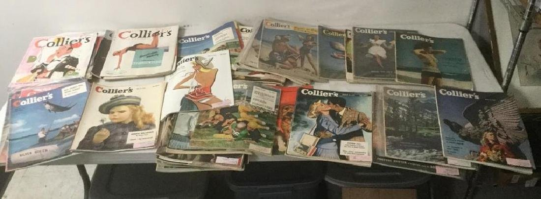 (64) COLLIERS OLDER MAGAZINES FROM 30'S AND 40'S