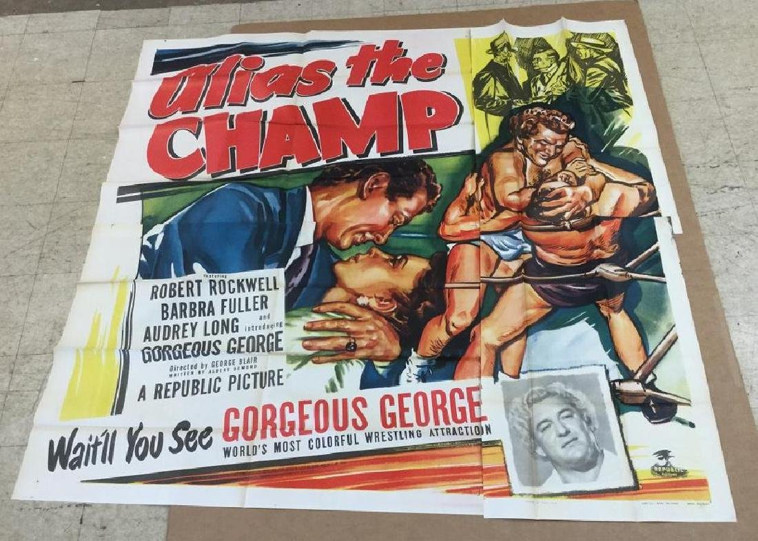 6 SHEET ALIAS THE CHAMP 1949, UNTOUCH FOLDED CONDITION,
