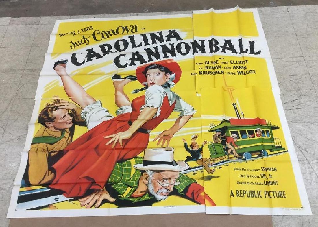 6 SHEET MOVIE POSTER CAROLINA CANNONBALL 1955,