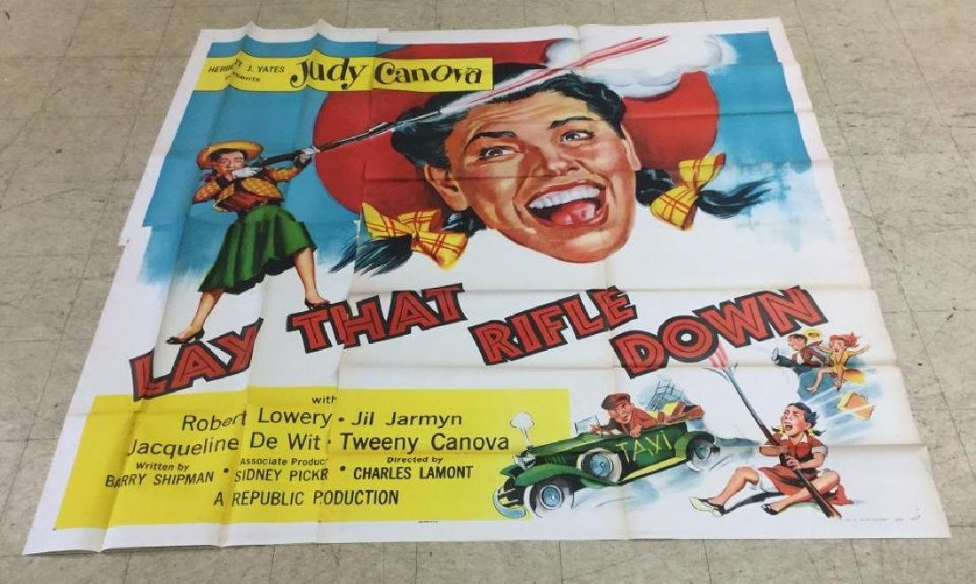 6 SHEET LAY THAT RIFLE DOWN, 1955, UNFOLDED THEATER
