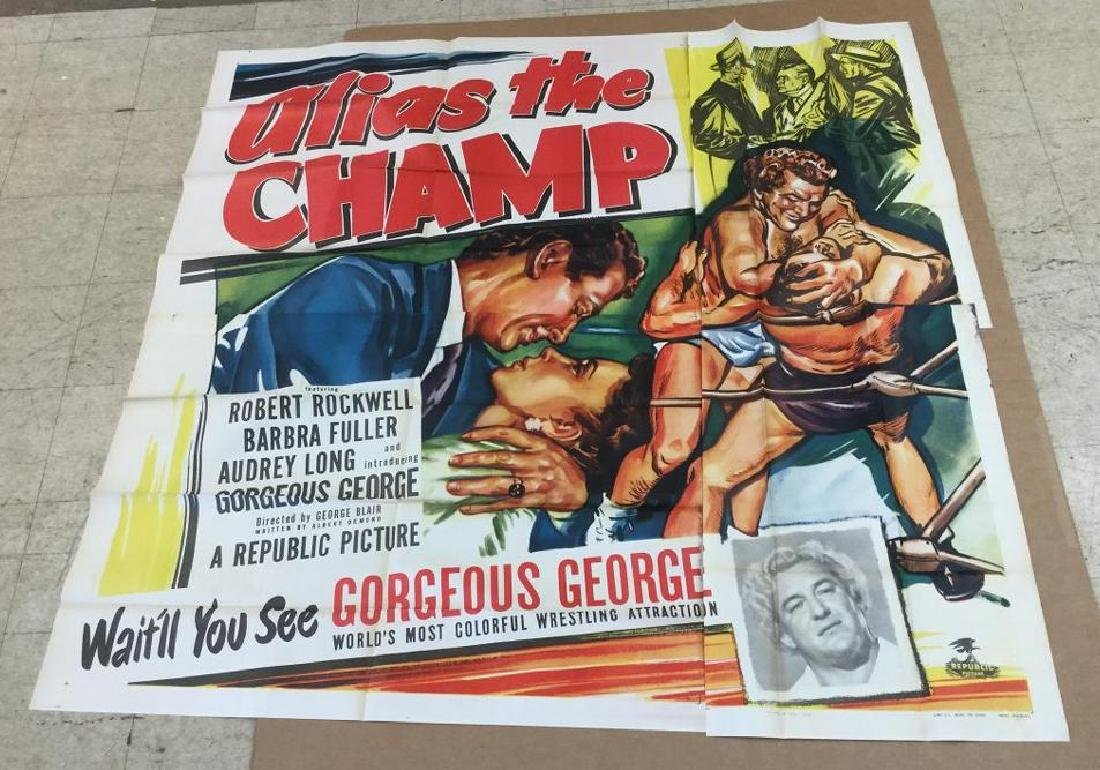 6 SHEET MOVIE POSTER ALIAS THE CHAMP 1949, UNTOUCHED