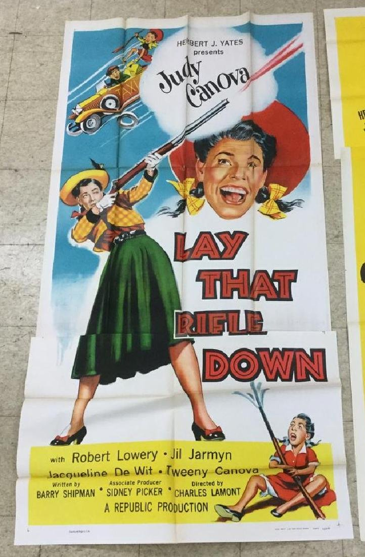 (3) 3 SHEET MOVIE POSTERS LAY THAT RIFLE DOWN, 1955.