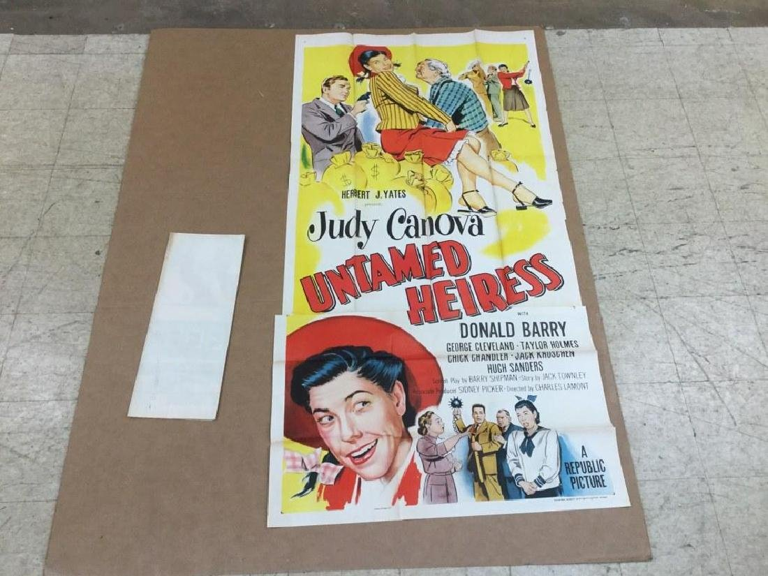 (2) 3 SHEET MOVIE POSTERS FROM OLD UPSTATE, N.Y. MOVIE