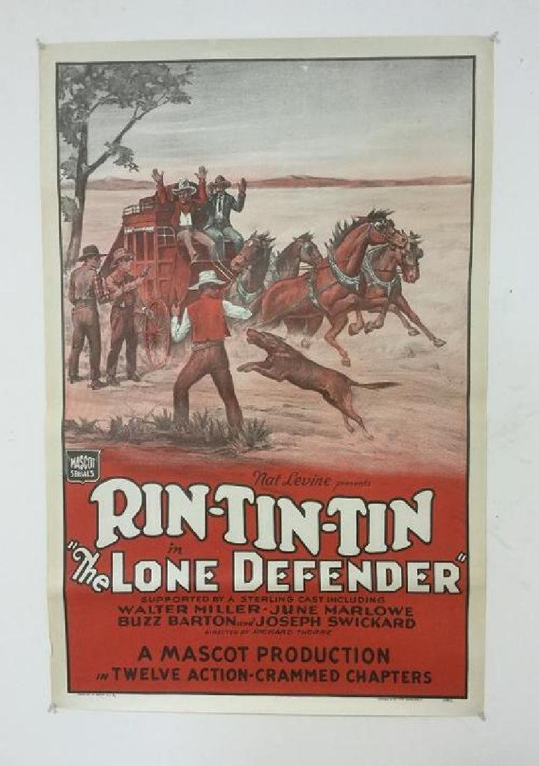 RIN TIN TIN IN THE LONE DEFENDER 1 SHEET MOVIE POSTER,