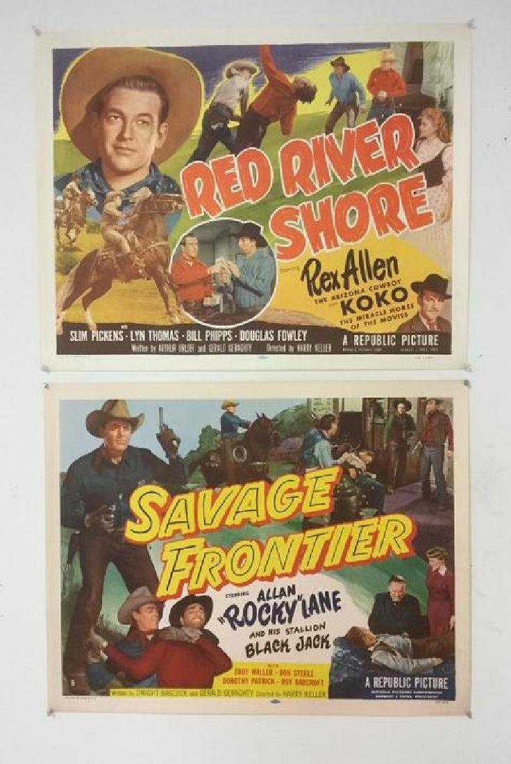 (2) WESTERN 1/2 SHEET POSTERS, BOTH FROM 1953, NICE