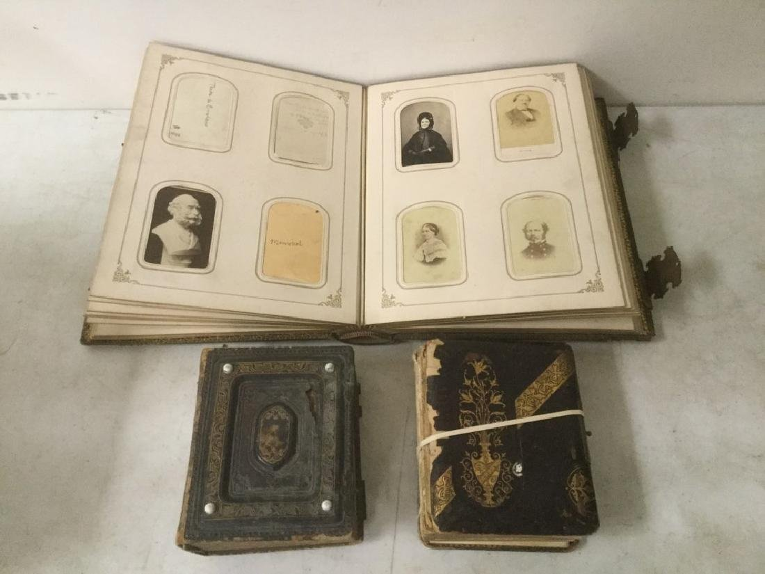 LARGE CDV ALBUM WITH 104 CDV'S AND TINTYPES. PLUS 2