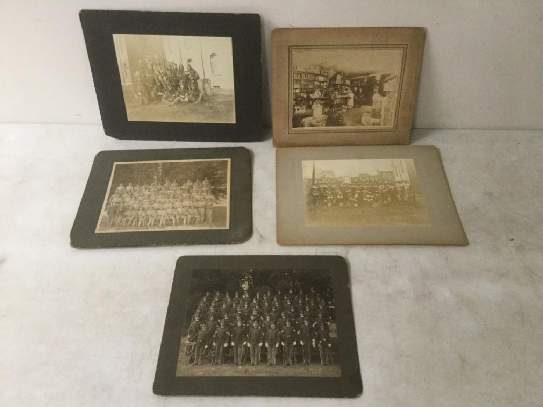 (5) LARGE EARLY PHOTOGRAPHS INCL. POST CIVIL WAR (?)