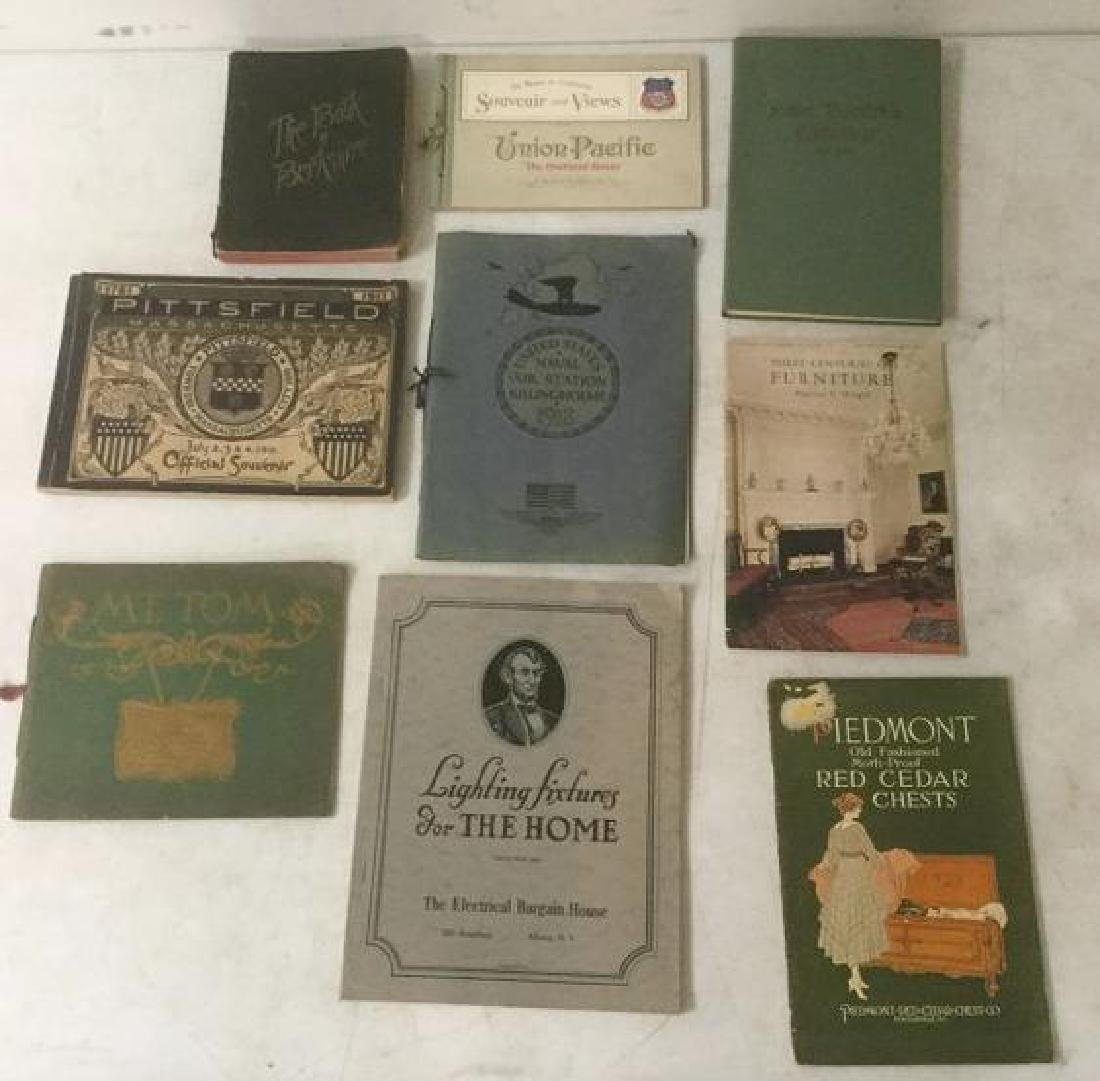 LOT OF OLDER SOUVENIR BOOKS AND MISC. CATALOGS INCL.