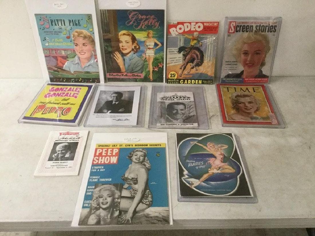 LOT OF OLDER CELEBRITY AND HOLLYWOOD MAGAZINES,