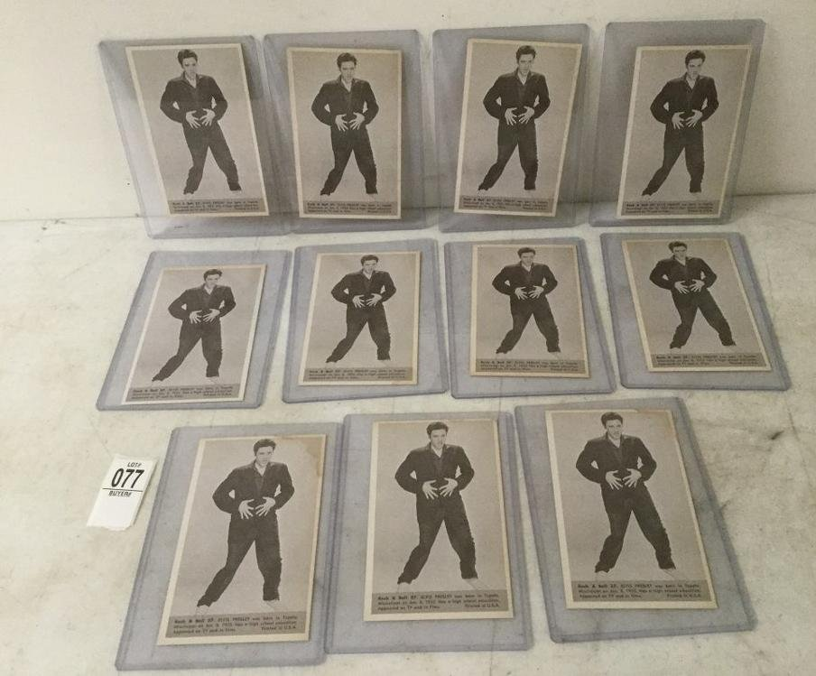 11 VINTAGE ROCK & ROLL MUTOSCOPE CARDS OF ELVIS