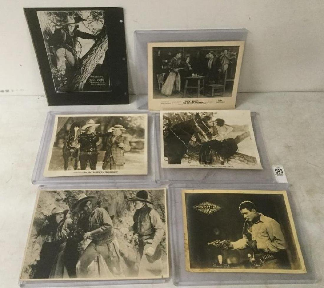 LOT OF 6 EARLY WESTERN PRESS PHOTOGRAPHS INCLUDING RARE