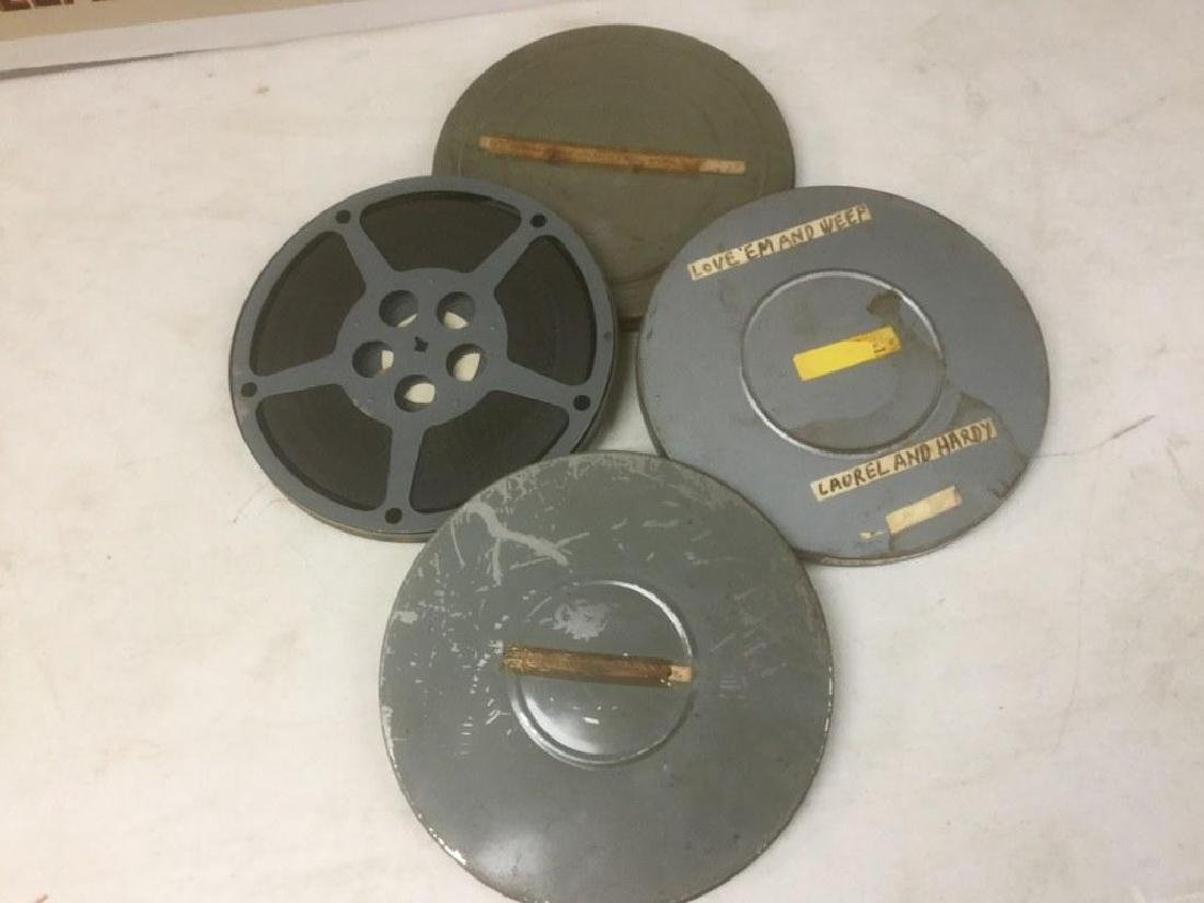 3 LAUREL & HARDY VINTAGE 16MM MOVIE REELS INCLUDING