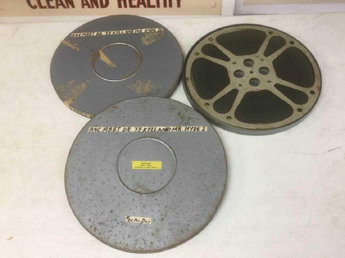 2 VINTAGE 16MM ABBOTT AND COSTELLO MEET DR JEKYLL AND