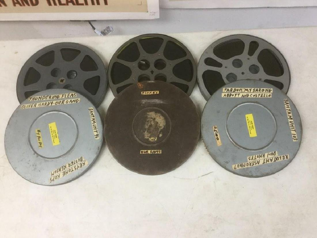 3 VINTAGE MOVIE REELS INCLUDING ABBOTT &