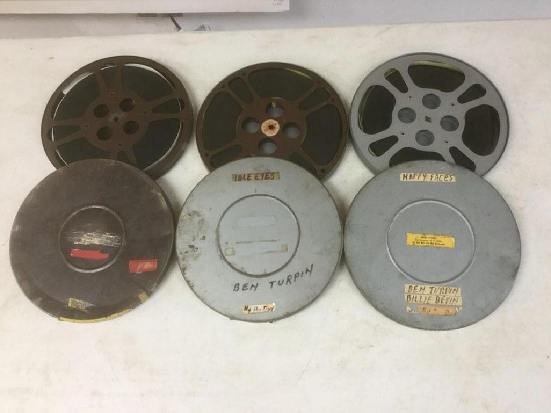 3 VINTAGE 16MM MOVIE REELS INCLUDING HAPPY FACES-BEN