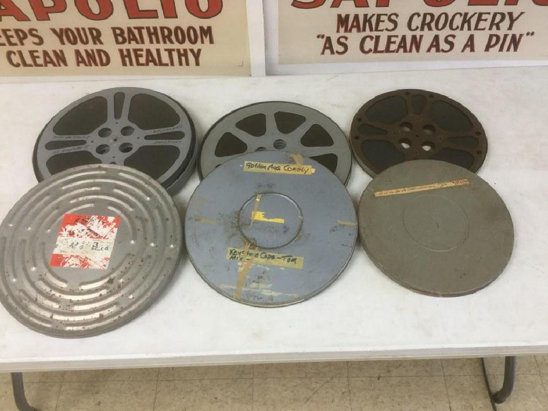 4 VINTAGE MOVIE REELS INCLUDING ROAD TO MORROCCO(2