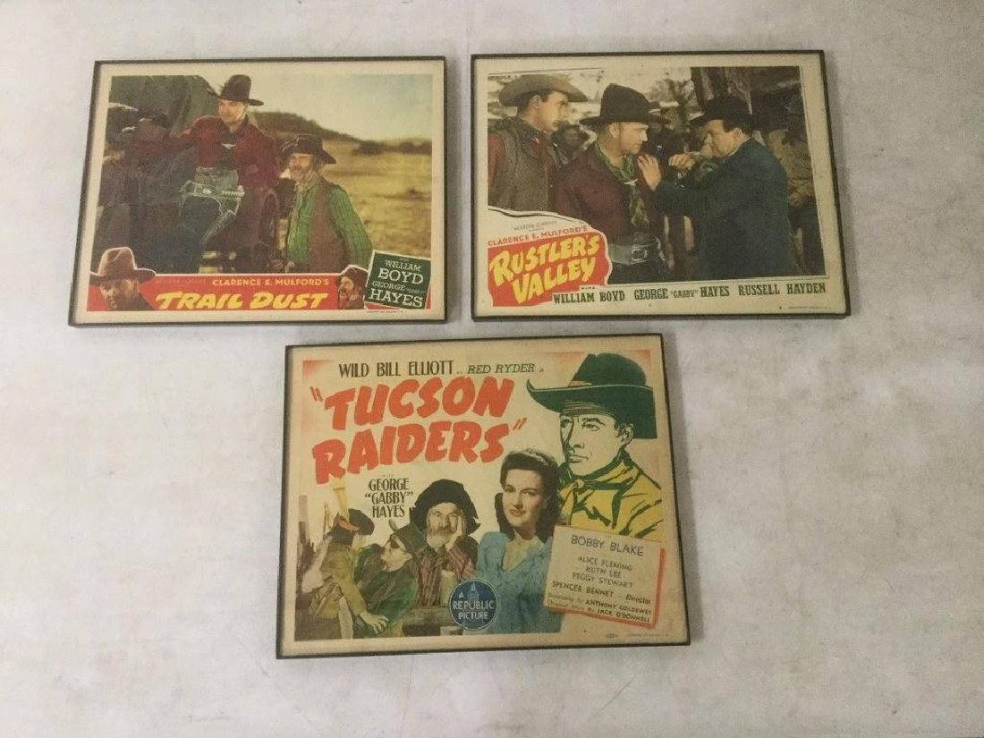 3 WESTERN LOBBY CARDS INCLUDING TRAIL DUST WITH WILLIAM