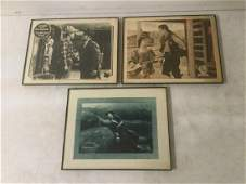 3 EARLY WESTERN LOBBY CARDS INCLUDING 1917 TRI-STONE