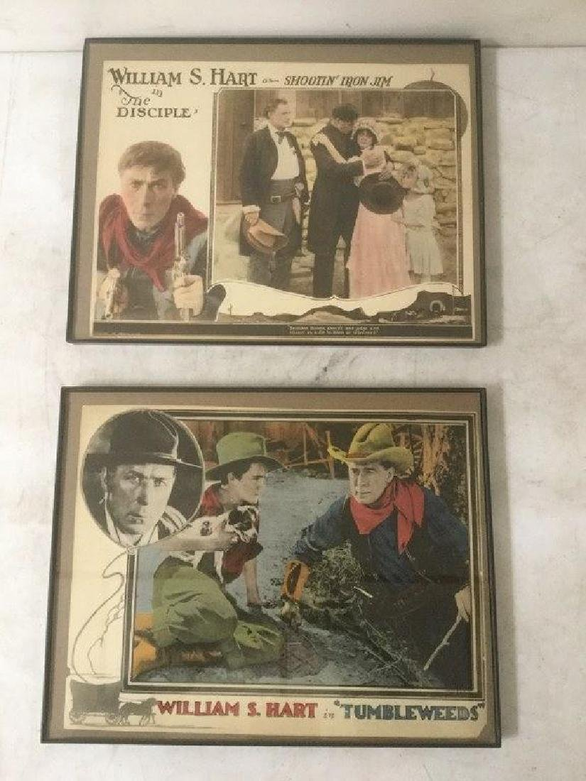 2 EARLY WESTERN LOBBY CARDS WITH WILLIAM S HART