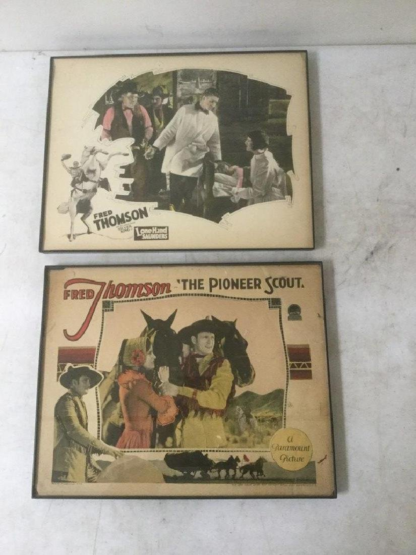 2 EARLY WESTERN LOBBY CARDS WITH FRED THOMSON INCLUDING