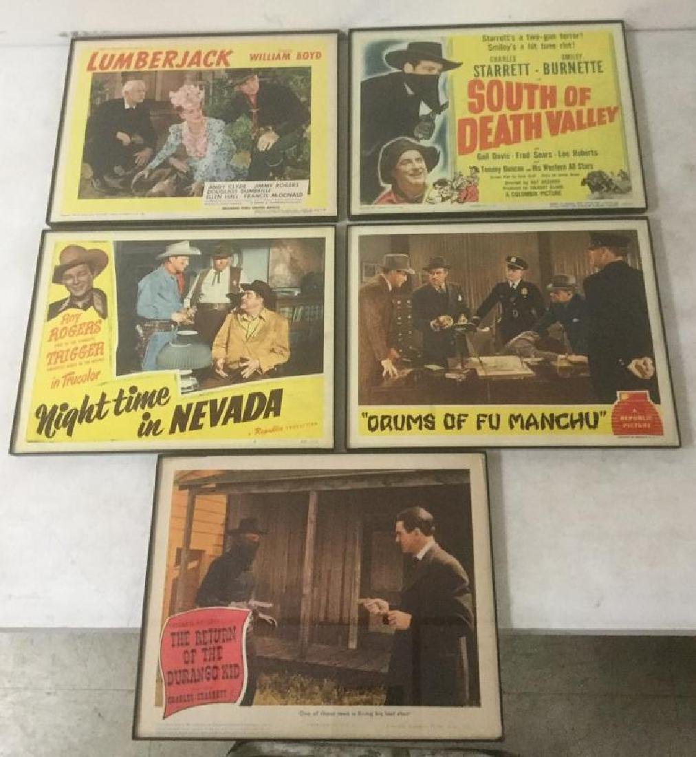 5 MOSTLY WESTERN 1940'S LOBBY CARDS INCLUDING