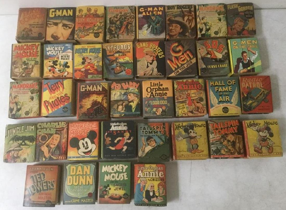 36 BIG LITTLE BOOKS INCLUDING MICKEY MOUSE, LITTLE