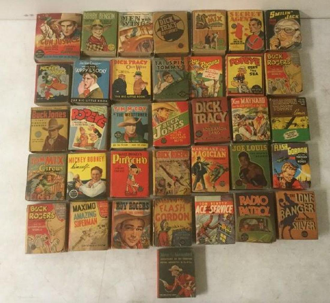 36 BIG LITTLE BOOKS INCLUDING ROY ROGERS, DICK TRACY,