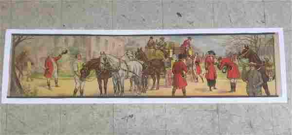FRENCH POSTER, C. 1900, LINEN BACKED, STREET SCENE