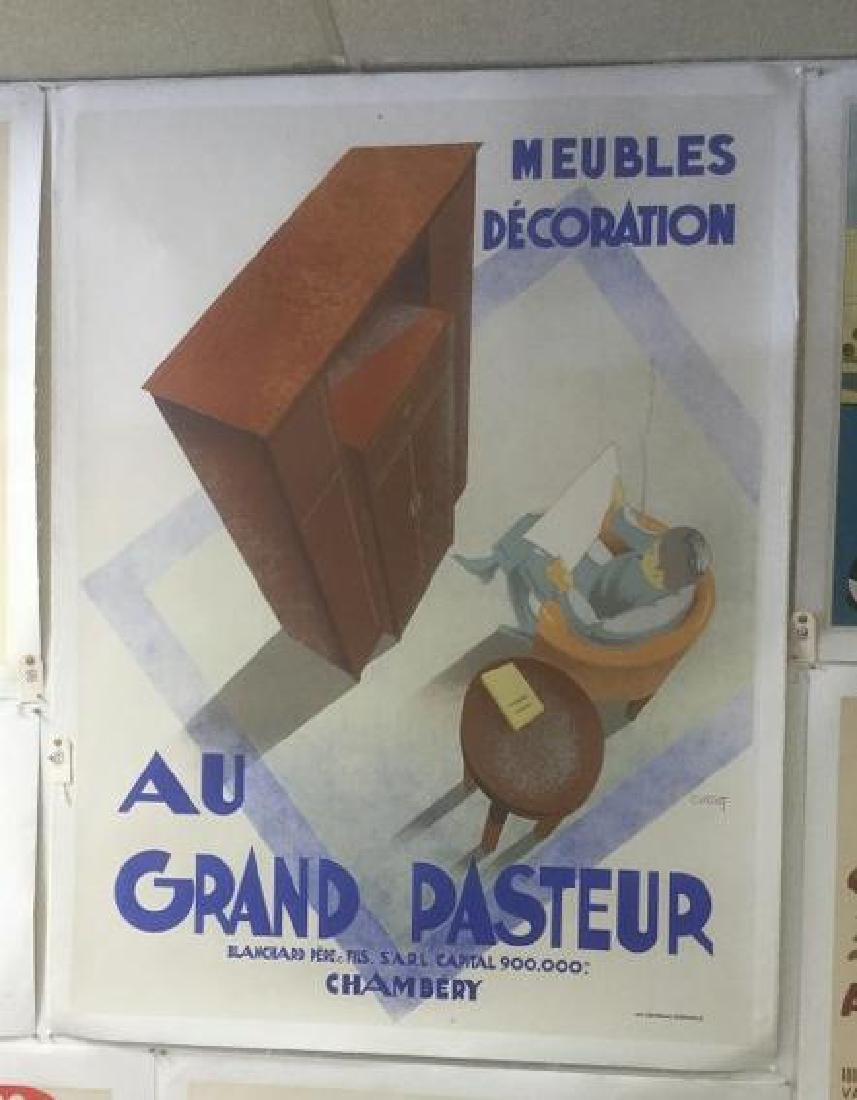 AU GRAND PASTEUR FRENCH POSTER, C. 1930, LINEN BACKED,