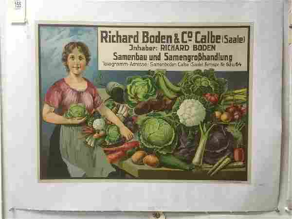 RICHARD BODEN & CO CALBE(SAALE) FOREIGN POSTER, C.