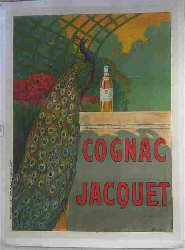COGNAC JACQUET FRENCH POSTER, C.1910, LINEN BACKED,