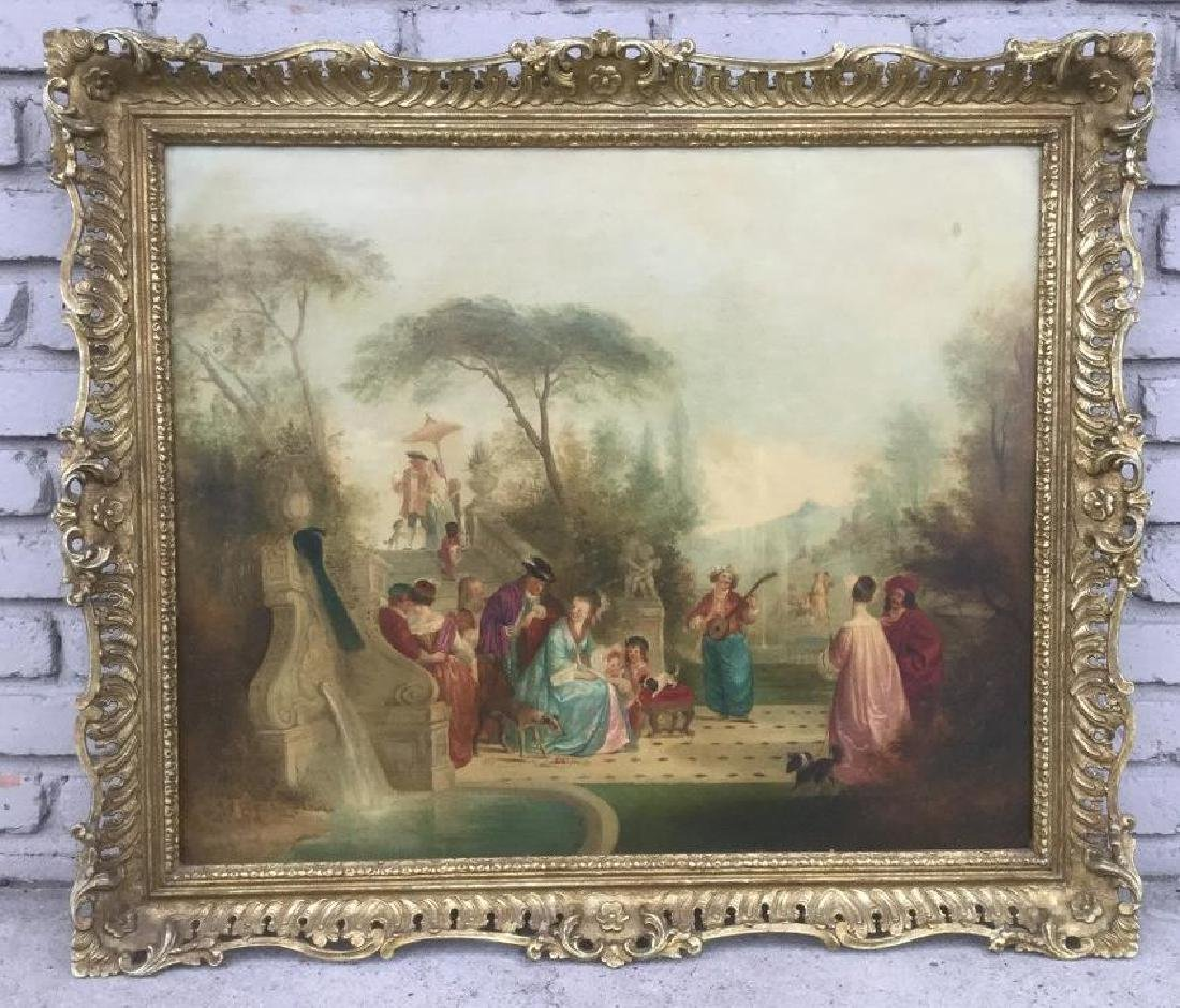 HENRY ANDREWS O/C CLASSICAL COURTYARD SCENE W/PEOPLE,