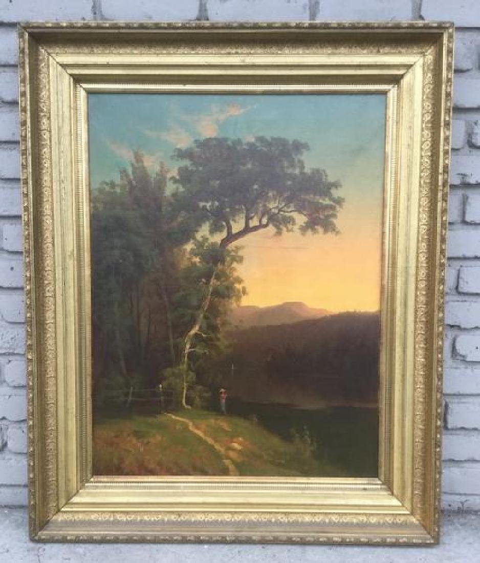 W H LANGWORTHY O/C LANDSCAPE DATED 1871 IN LARGE PERIOD