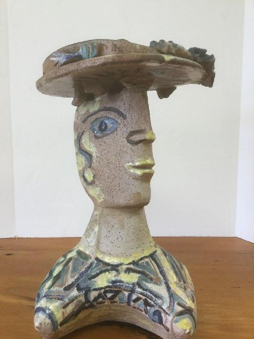 PABLO PICASSO (?) TERRA COTTA SCULPTURE OF WOMAN WITH