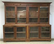 LARGE IMPORTED BREAKFRONT-DISPLAY CASE FROM ONE OF THE