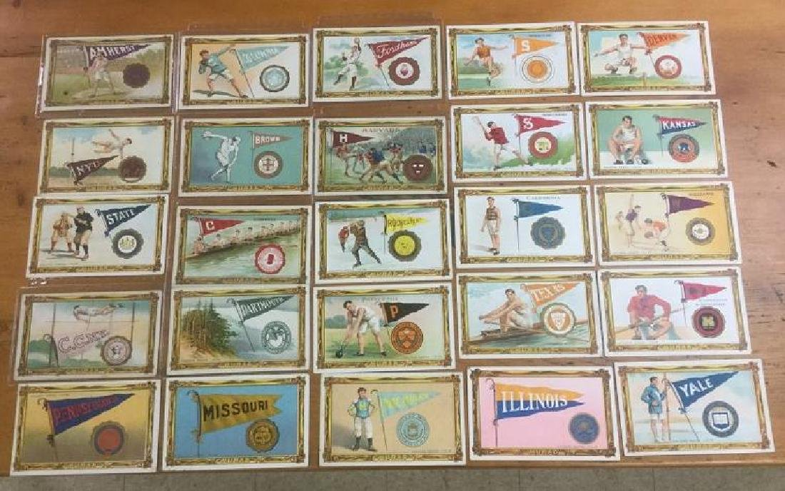MURAD T6 COMPLETE 25 CARD COLLEGIATE TOBACCO PREMIUM