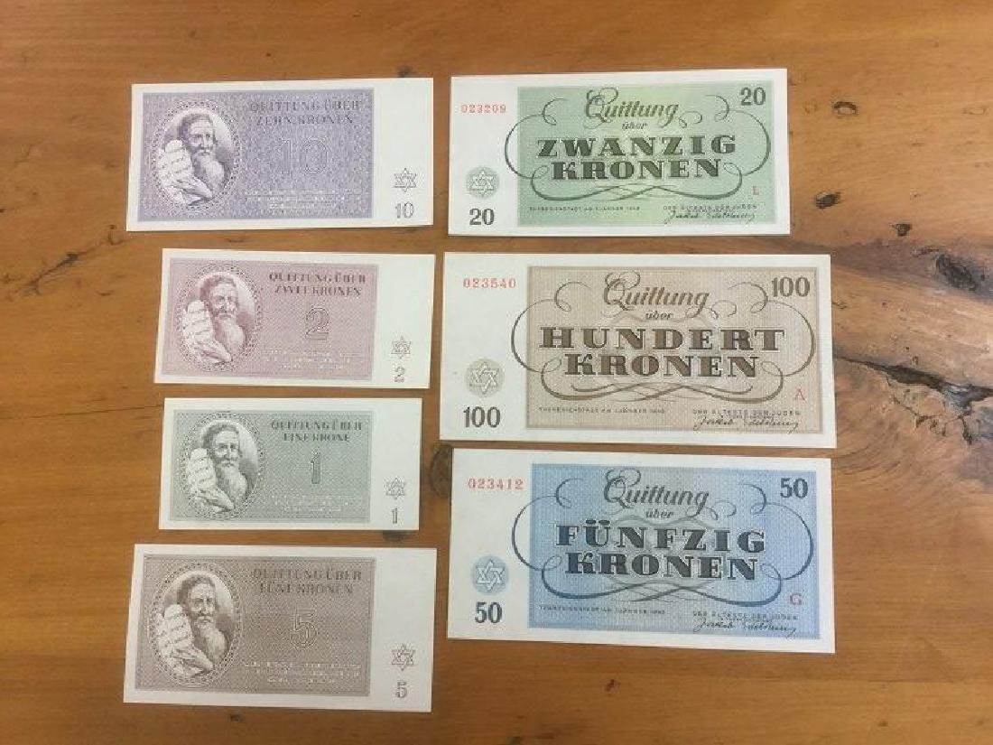 (7) PCS. CONCENTRATION CAMP PAPER MONEY.  FROM OLDER