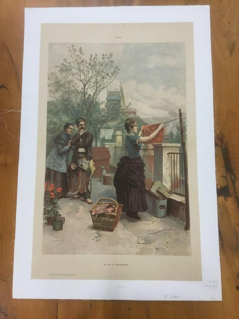 FRENCH POSTER, J. WORMS, C. 1885, AN IDYL AT